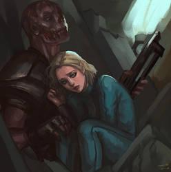 charon and vaultie by SchwarzesGift411