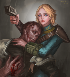 charon and vaultie 02 by SchwarzesGift411