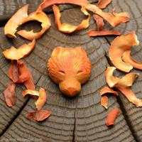 Bear   Avocado pit carving by anguana