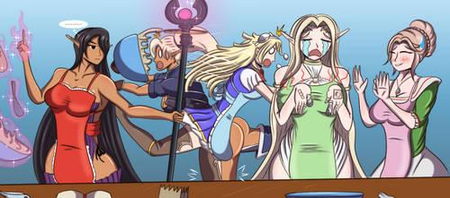 Commission: Kuroinu Baking Hilariocity by LionheartXIII