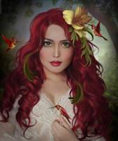Red humming birds by ElenaDudina