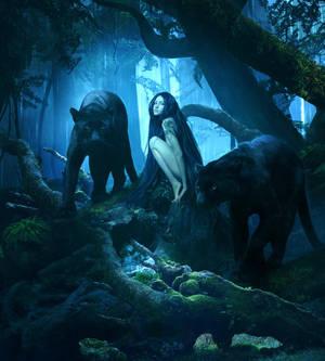 Black panthers by ElenaDudina