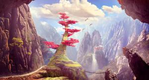 Mountain tree by ElenaDudina