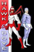 80's Hawk and Dove DC Y.B.S. by Thuddleston