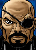 Nick Fury Portrait Series by Thuddleston