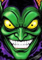 Green Goblin Portrait Commission by Thuddleston