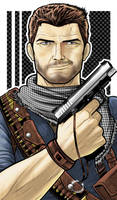 Nathan Drake Uncharted Commission by Thuddleston