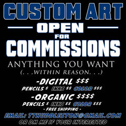 OPEN FOR COMMISSIONS by Thuddleston
