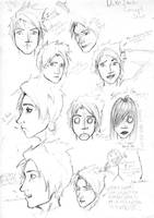 Duke Itachi Sketch Sheet by EzeKeiL