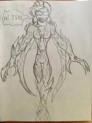 Claire Nunez symbiote by Multiomniversal124