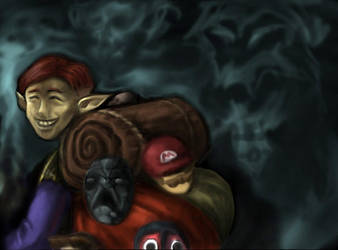 Happy Mask Salesman by lt-fellblade