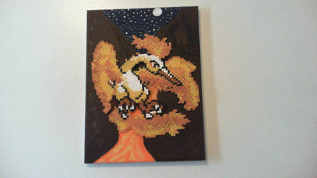 Moltres Perler/Painting by ActionPrimePerlers