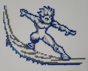 Ice man Perler (Xmen) by ActionPrimePerlers