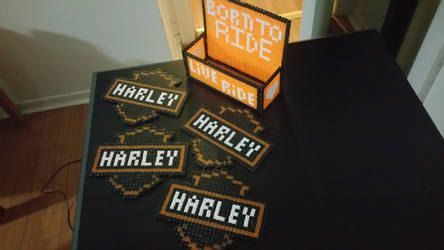 Harley Davidson Perler + Box by ActionPrimePerlers