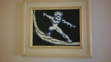 Ice Man Perler (Xman) by ActionPrimePerlers