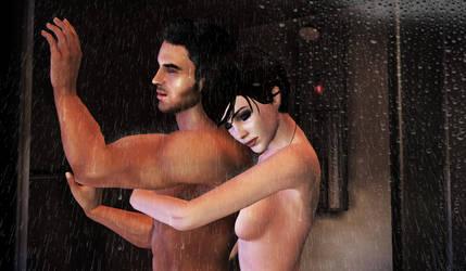 Shower Snuggle by mandyalenko