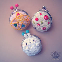 Molang, SailorMoon, Apple purses by Tofe-lai