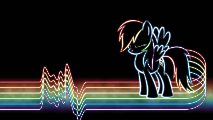 Rainbow Dash Glow Wallpaper by SmockHobbes