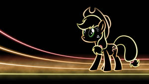 Applejack Glow Wallpaper by SmockHobbes