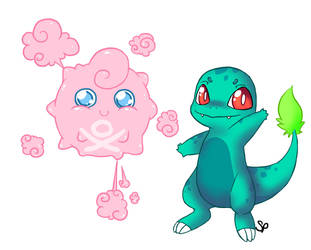 Pokemon Fusion Doodles by GhostMotus
