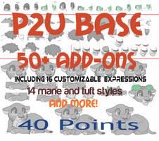 *NEW* Cub/Chibi Base P2U [ Paint friendly ] by Sukida-Adopts