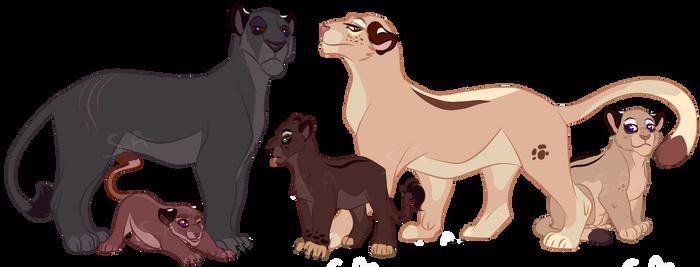 Lioness Pride - Closed by Sukida-Adopts