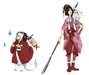 Adventurer and Companion by riiriia