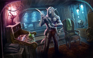 ...Commission: Night Elf Rogue... by ShadowPriest
