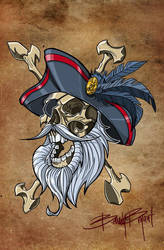 Pirate Skull by greyfoxdie85