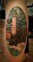 Lighthouse Tattoo by greyfoxdie85