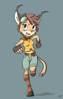 Caracal Girl: Character Concept Ver.3 by DeannART