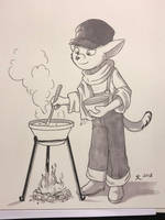 Cooking - Inktober 2018 by DeannART