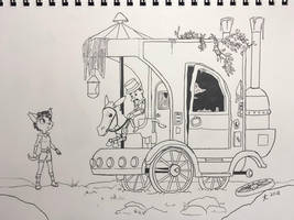 Abandoned Carriage - Inktober 2018 by DeannART