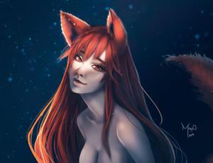 Happy Wolf by MayOrnelas