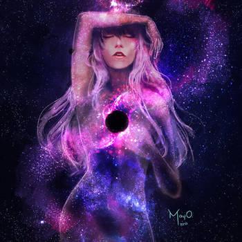 Supermassive Black Hole by MayOrnelas
