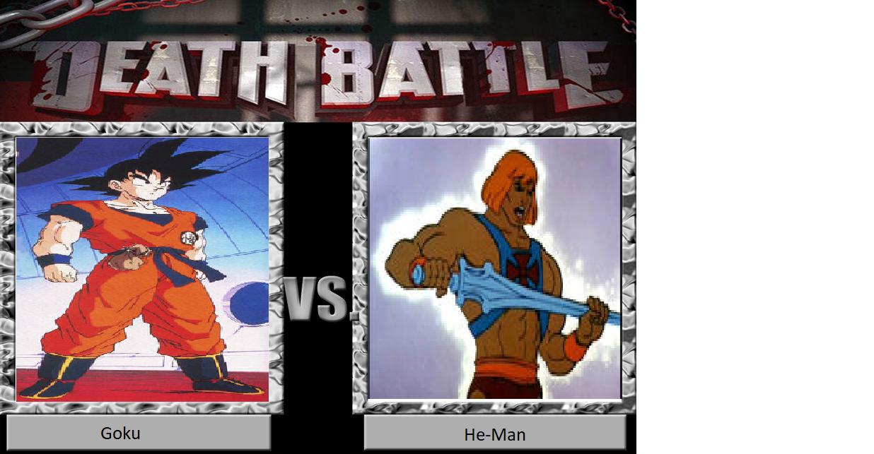 Death Battle: Goku vs. He-Man by JusSonic