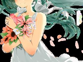 {Hatsune Miku} Flowers Render ~ by MikuShooter