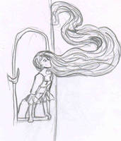 Rapunzel in tower by fireburner543