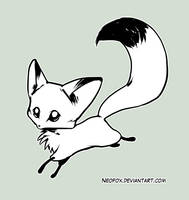 Chibi red fox by neofox