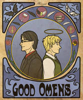 Aziraphale and Crowley by Morgaer
