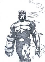 Hellboy by komus