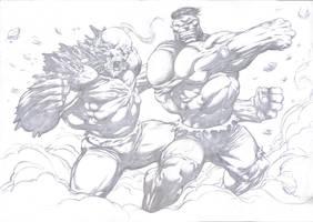 Hulk vs Doomsday by komus