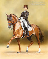 Dressage Horse Blind-Date and V. Max-Theurer by AtelierArends