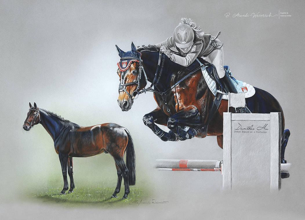 Horseportrait Danthes H [D] by AtelierArends