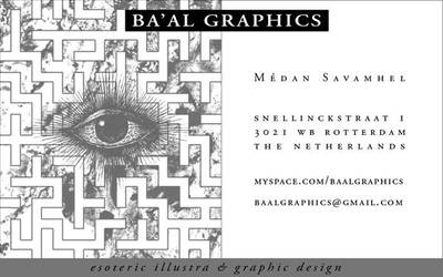 Baal Graphics Business Card by MartinSilvertant