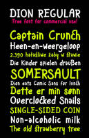 Dion free font by MartinSilvertant
