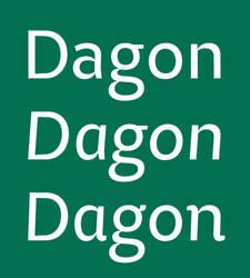 Dagon Sans v16 Regular + Italic + Cursive Italic by MartinSilvertant