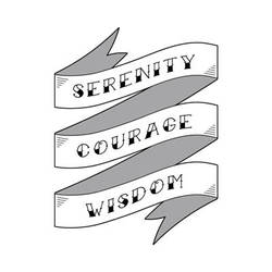 Serenity Prayer Ribbon Tattoo Design by dssken
