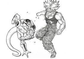 Trunks vs Frieza by Blood-Splach