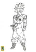 Goku ssj by Blood-Splach